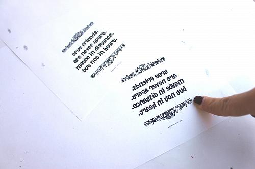 Print Out In Reverse Words Or Your Favorite Quote Use Scissors To Cut As Close The You Can
