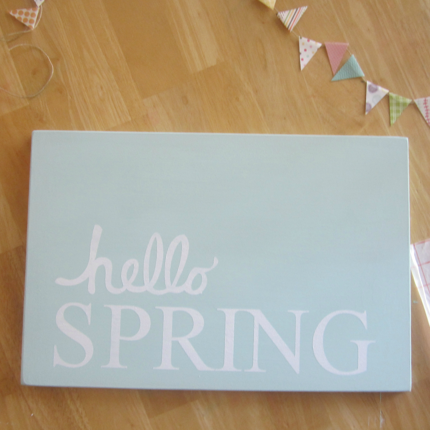 Quot Hello Spring Quot Bannered Wooden Sign Project By Decoart