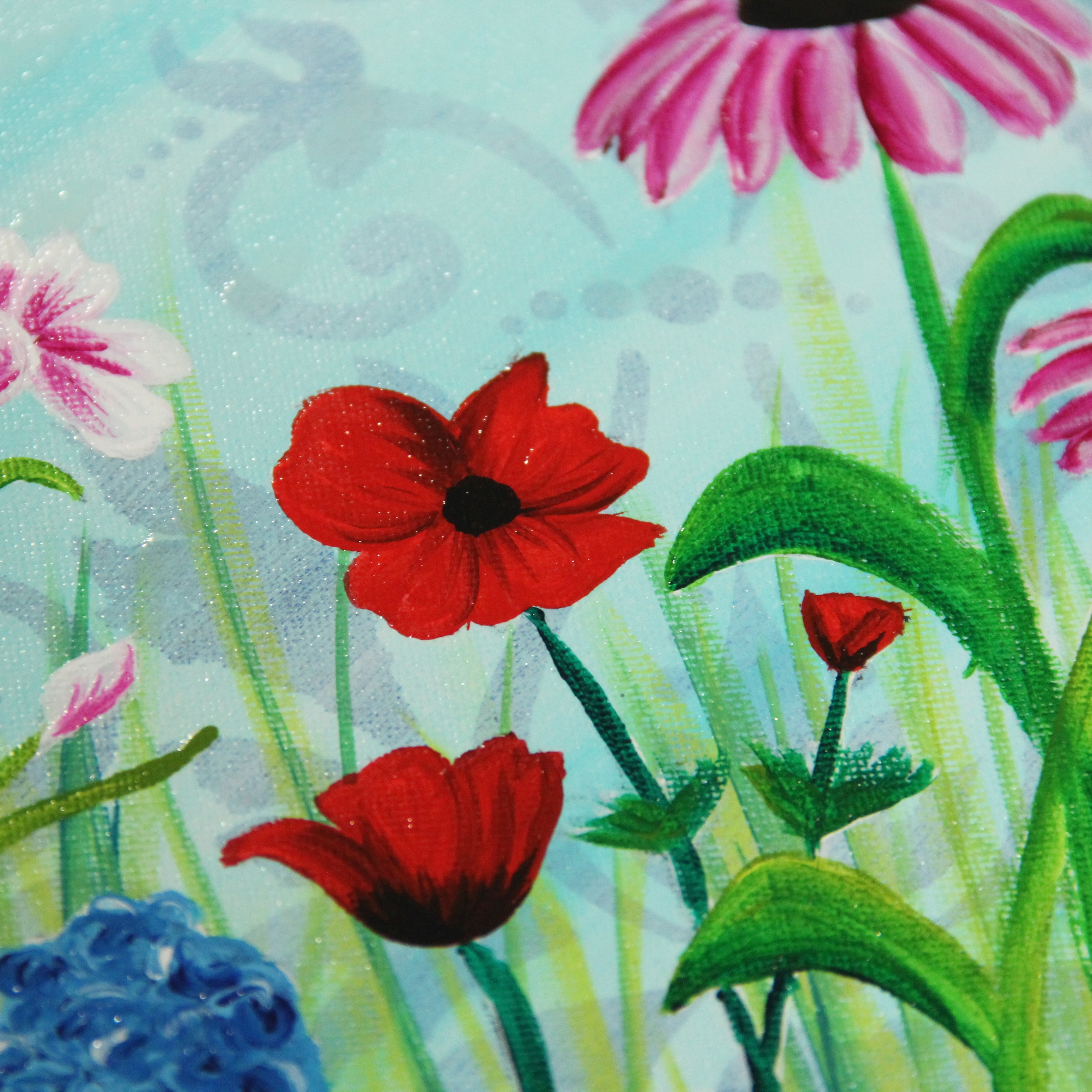 Blooming Colorful Flower Canvas - Project by DecoArt