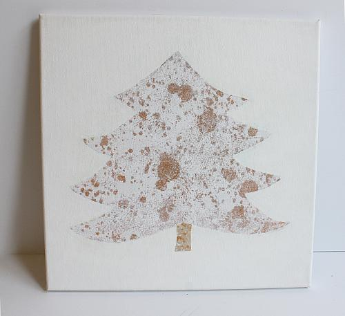 Wire and Bead Christmas Tree Canvas - Project by DecoArt