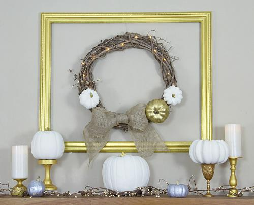 Elegant Metallic Gold Frame And Wreath Project By Decoart
