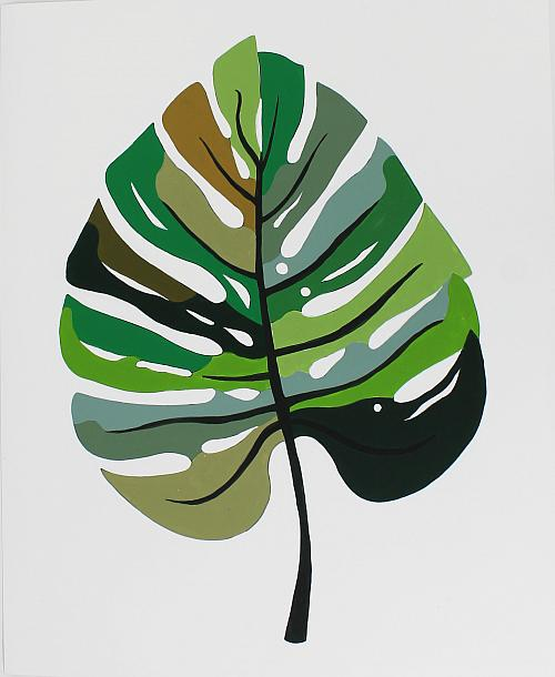 Paint By Number Tropical Leaf Project By Decoart