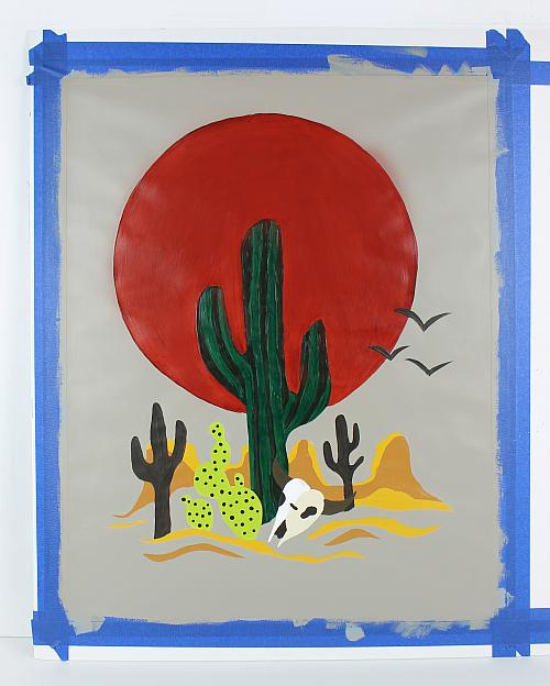 Paint by Numbers cacti 30x90 cm
