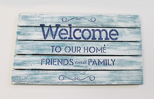 Quot Welcome To Our Home Quot Stenciled Sign Project By Decoart