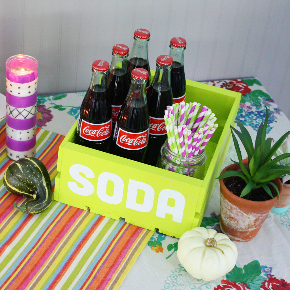 Halloween Party Soda Crate Project By Decoart