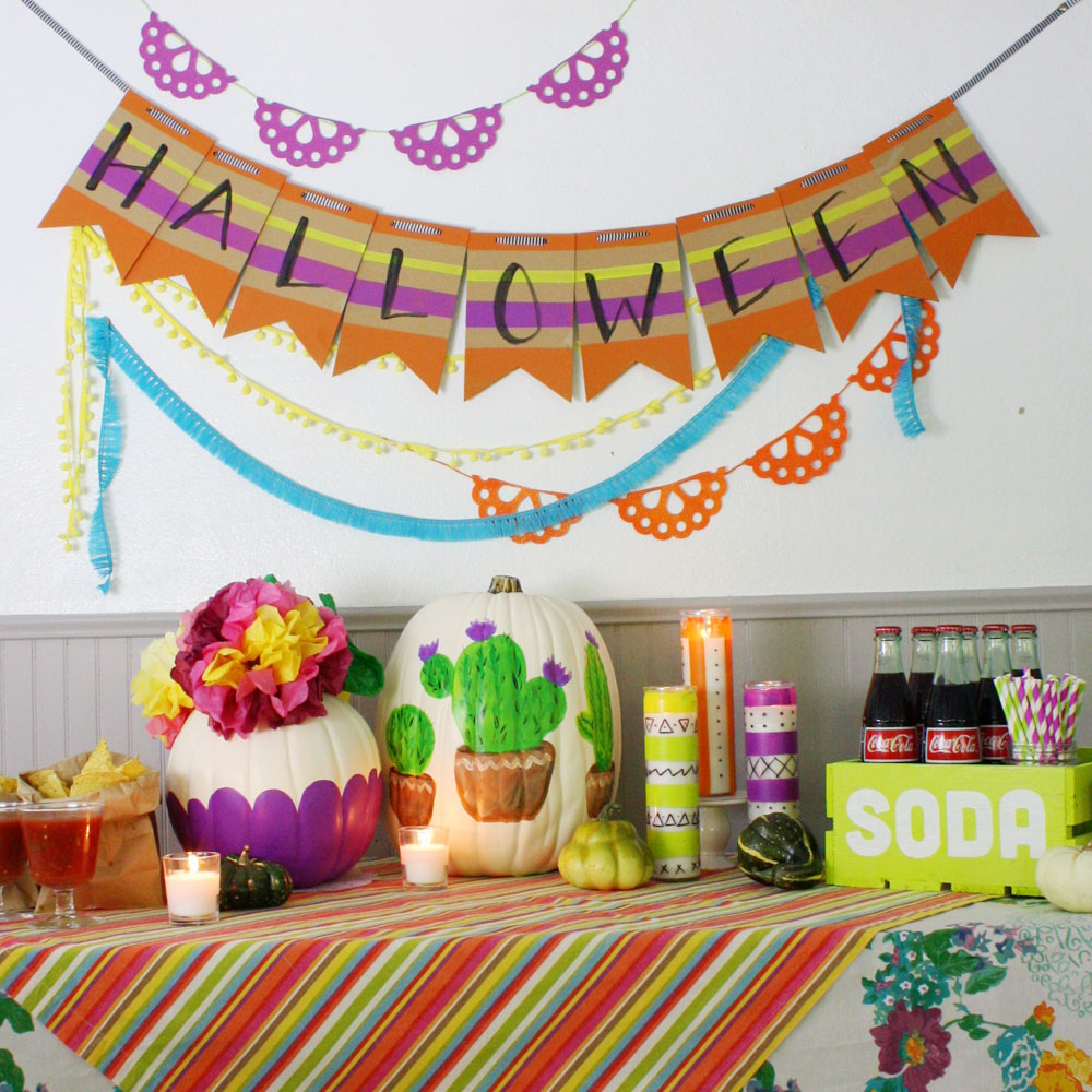 Halloween Painted Party Banner Project By Decoart