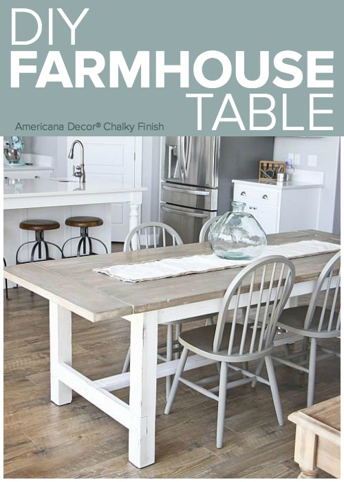 DIY Weathered Farmhouse Table Project by DecoArt : 1857diy farmhouse tablepinterest from decoart.com size 500 x 700 jpeg 93kB