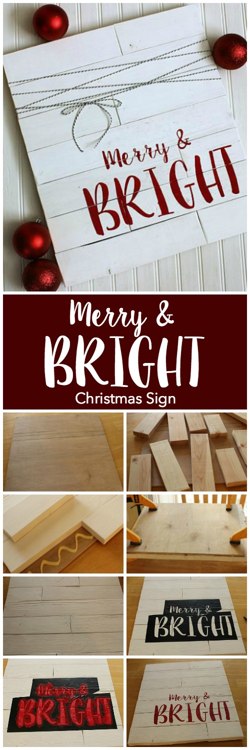 Quot Merry Amp Bright Quot Shiplap Christmas Sign Project By Decoart