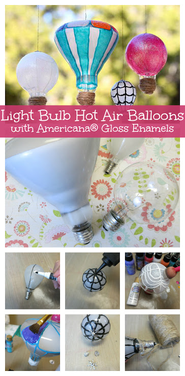 DIY Light Bulb Hot Air Balloons
