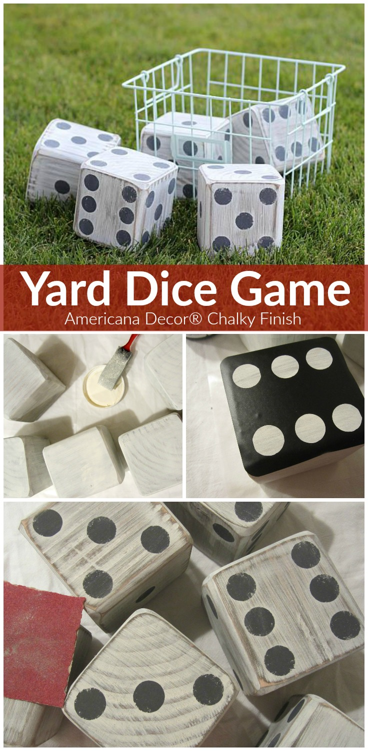 Yard Dice Game - Project by DecoArt
