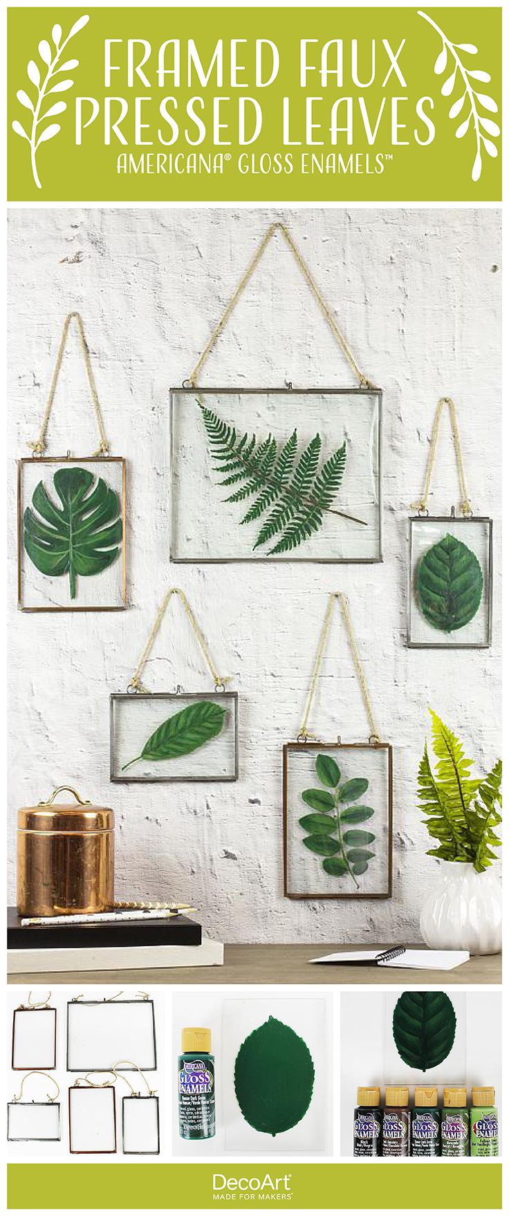 Framed Faux Pressed Leaves