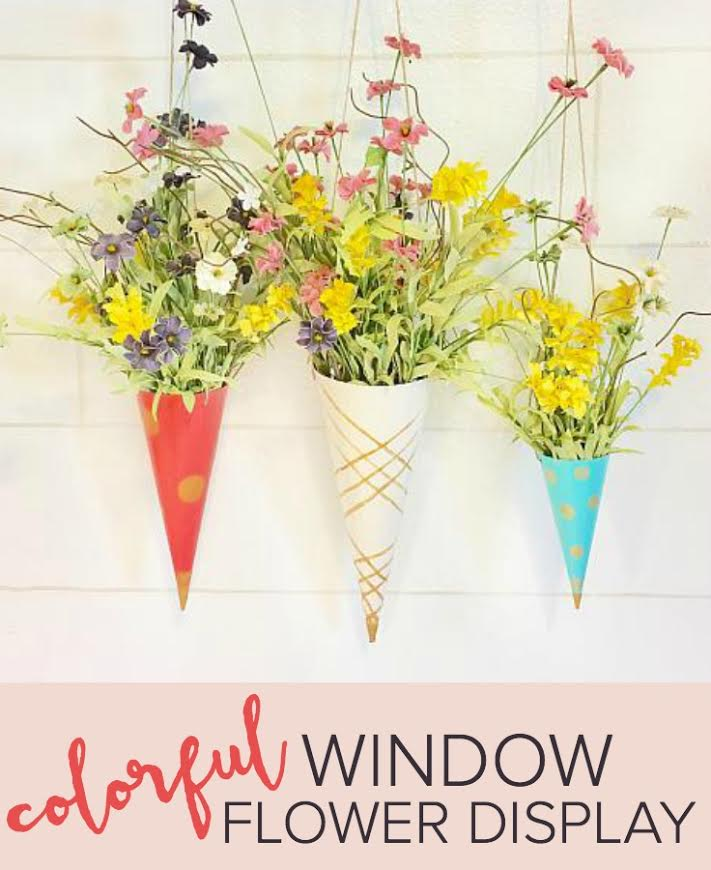 Colorful Window Flower Display