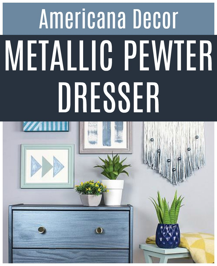 Metallic Pewter Dresser