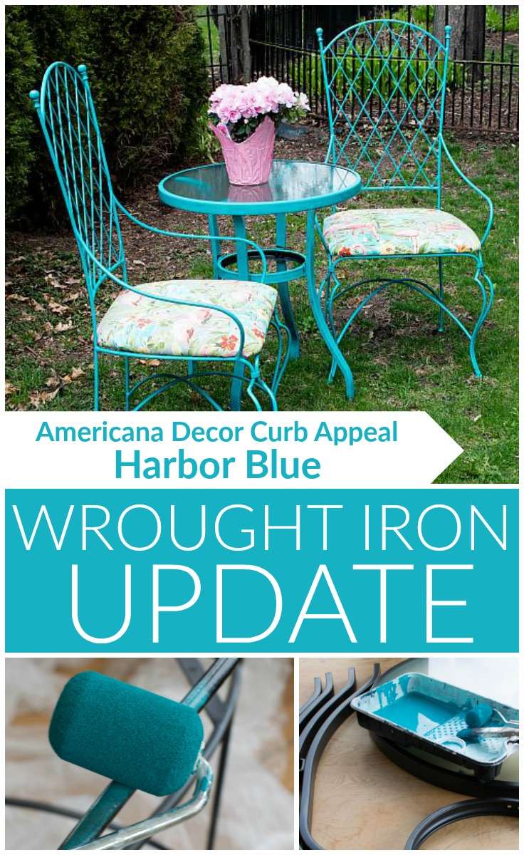 Vintage Wrought Iron Table and Chairs Update