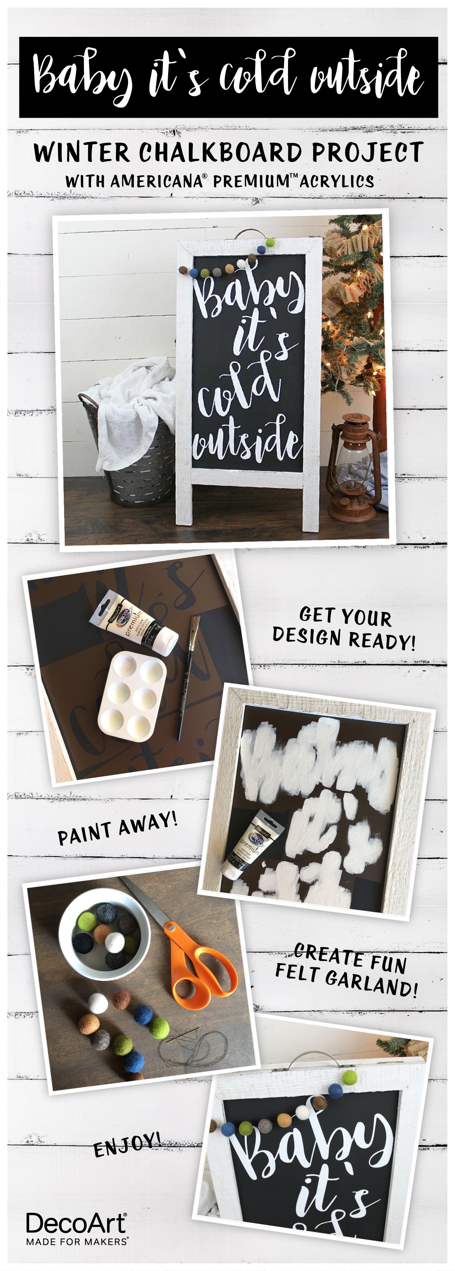 Baby It S Cold Outside Sign Project By Decoart