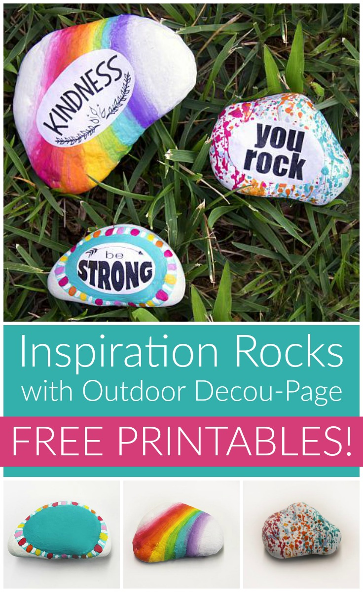 Inspirational Painted and Decou-Page Rocks