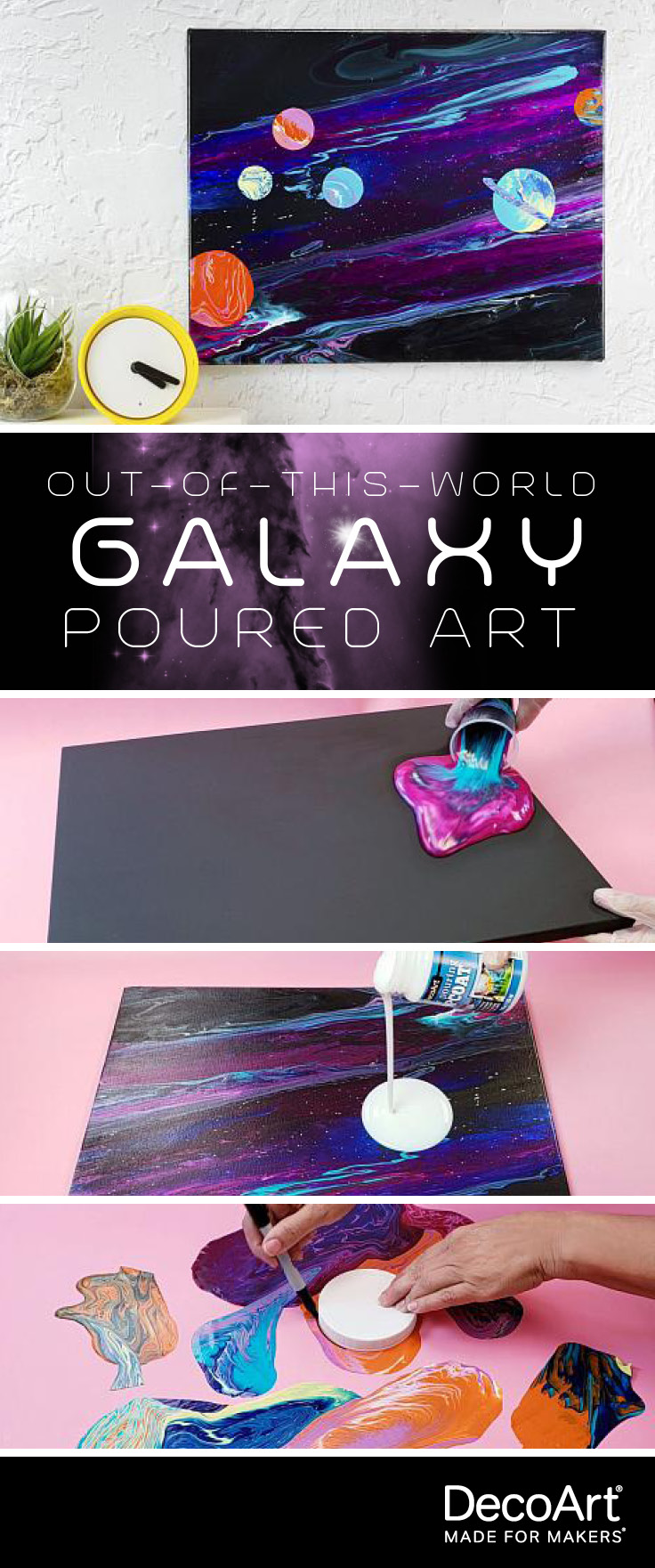 Out-of-This-World Galaxy Poured Art