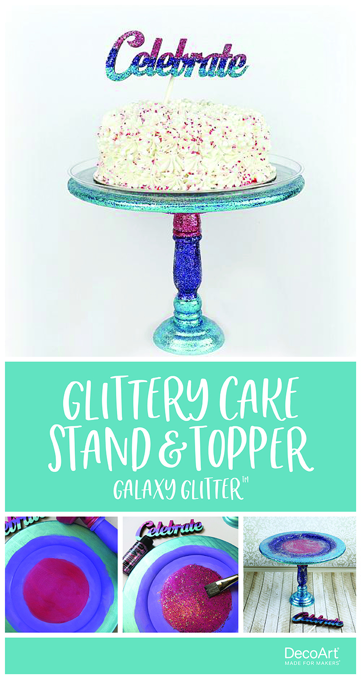 Glittery Cake Stand and Topper