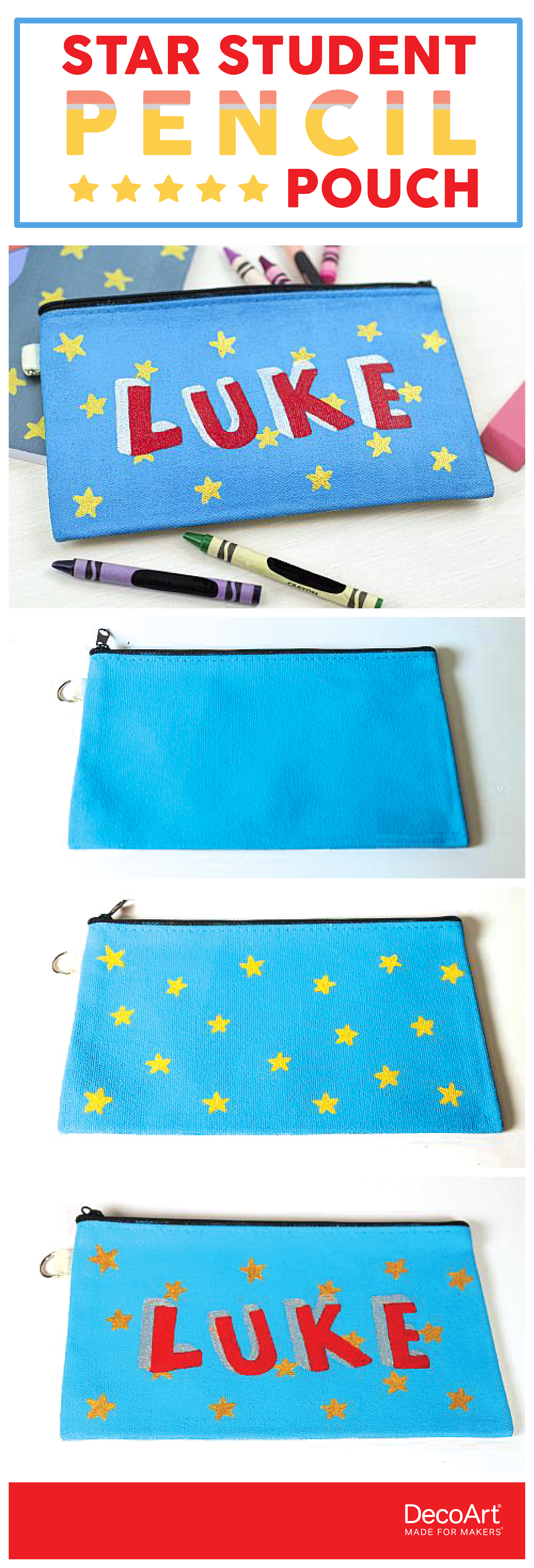 Stars Named Pencil Pouch