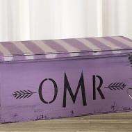 Distressed Monogram Wooden Box