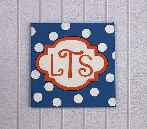 Monogrammed Wall Canvas