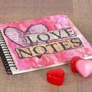"""""""Love Notes"""" Mixed Media Journal"""