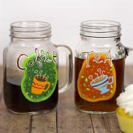 Coffee and Tea Mason Jar Mugs