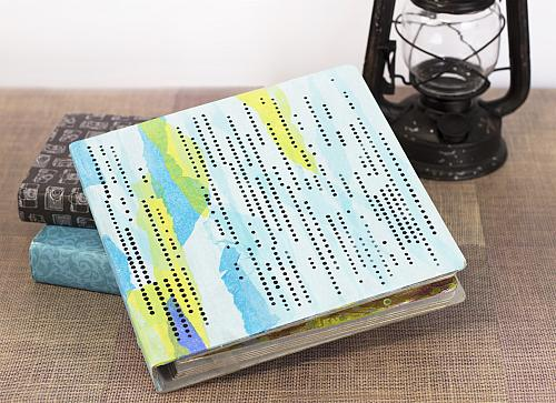 Stenciled Pixelated Journal Cover