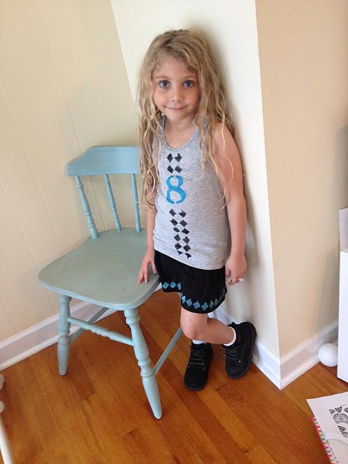 Girl's Cute and Sporty Stenciled Outfit
