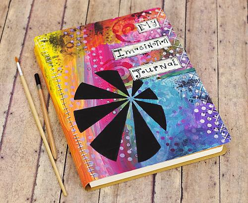 Rainbow Colored Inspiration Mixed Media Journal