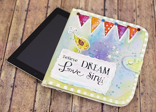 Colorful & Inspirational Stenciled Tablet Case