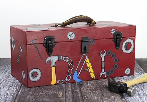 How To Repaint A New Painted Metal Tool Box