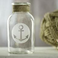 Etched Anchor Vase