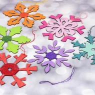 Colorful Glittery Snowflakes