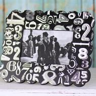 Metallic Numbers Picture Frame