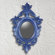 Mini Metallic Ornate Mirror