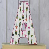 Arrow Pattern Personalized Letter