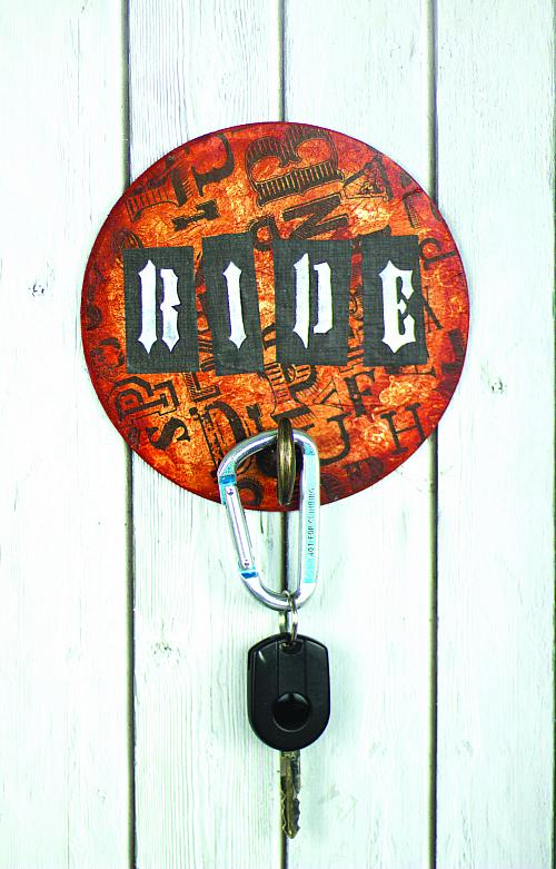 Quot Ride Quot Stenciled Keyholder Project By Decoart