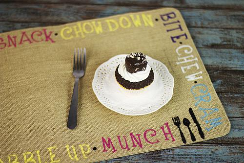 Whimsical Food Word Placemat