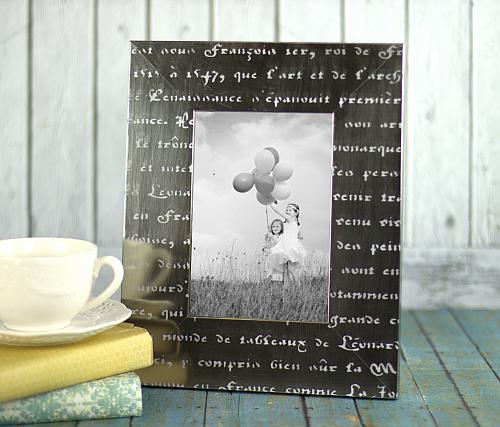 Stenciled Tone-on-Tone Word Frame