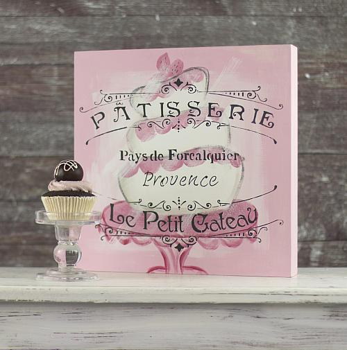 Stenciled French Bakery Window Canvas
