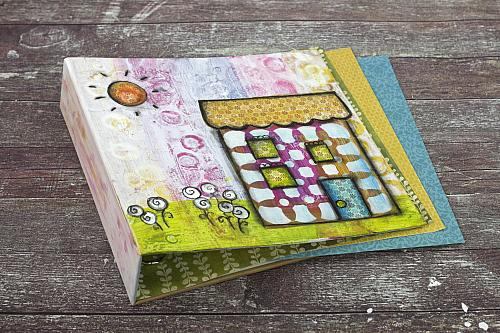 Colorful Mixed Media House Binder
