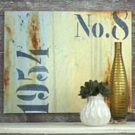 Distressed Stenciled Canvas
