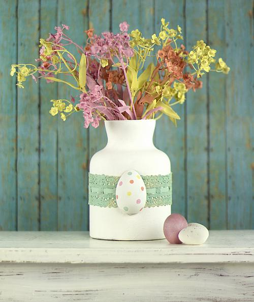 Easter Chalky Finish Flower Bouquet Project By Decoart