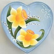 Daffodils Heart Box