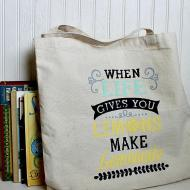 Stenciled Canvas Tote