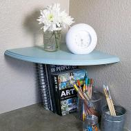 Chalky Corner Shelf