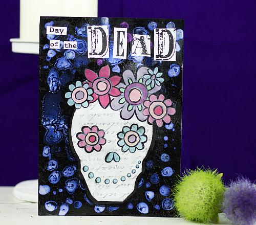 Day of the dead mixed media card project by decoart m4hsunfo