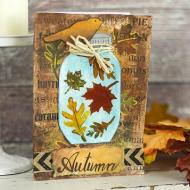 Fall Mason Jar Card
