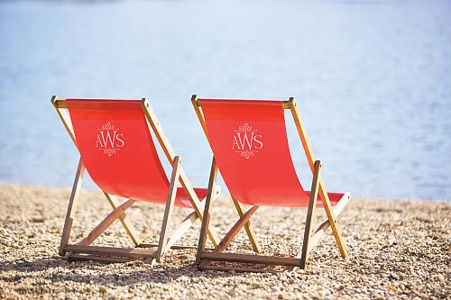 Elegant Monogrammed Beach Chair   Project By DecoArt